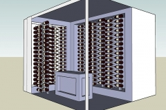 3D Custom wine room design