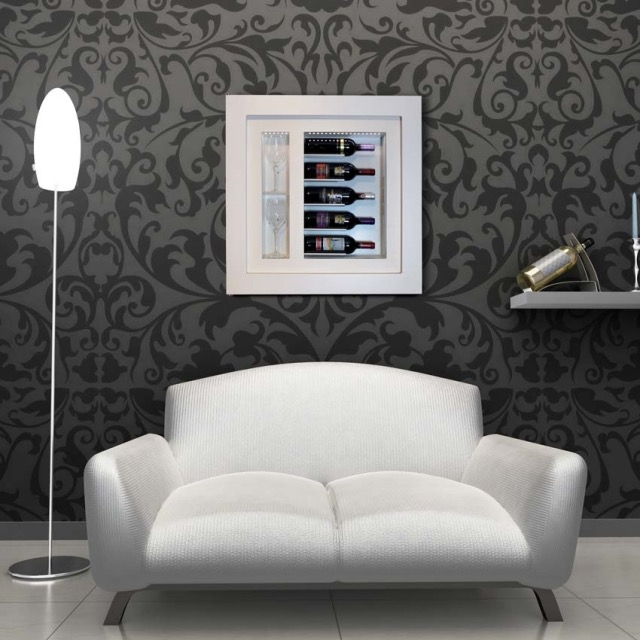 in-wall-wine-display