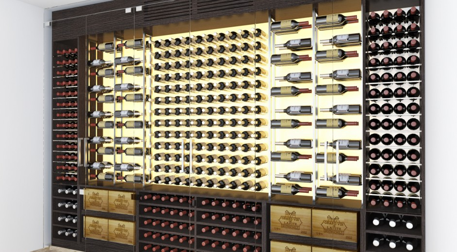Enjoyable Bespoke Wine Walls Wines Cellar Interior Design Ideas Tzicisoteloinfo