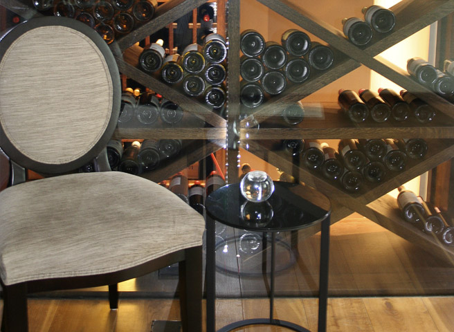 Chunky Wine Racking in Wine Wall