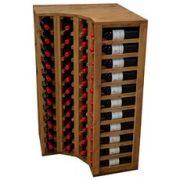 pre-assembled corner wine unit