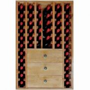 ready made wine display with shelves
