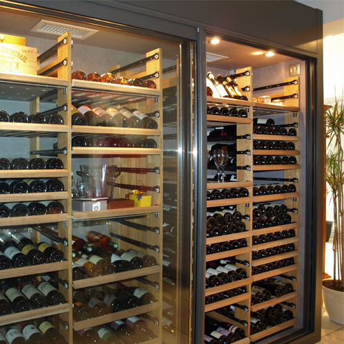 Wine Wall  Wooden Racking